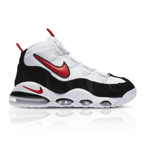new style 802a8 879a1 Nike Men's Air Max Uptempo '95 White/Red Sneaker