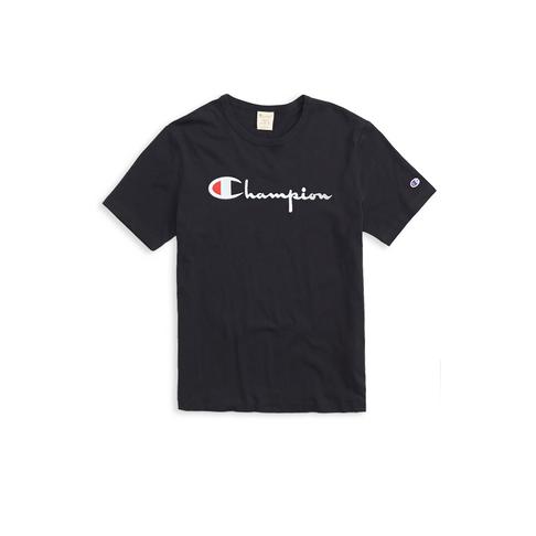 a7875c18 Champion Men's Black Small Front Logo T-Shirt