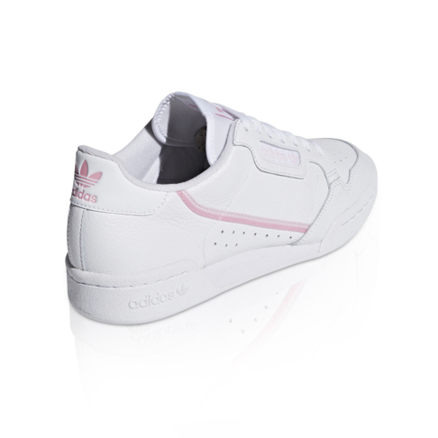 e53ec2baa1dff adidas Originals Women s Continental 80 White Pink Sneaker
