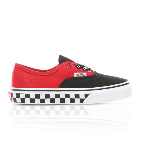 315465346555 Vans Kids Authentic Red Black Sneaker