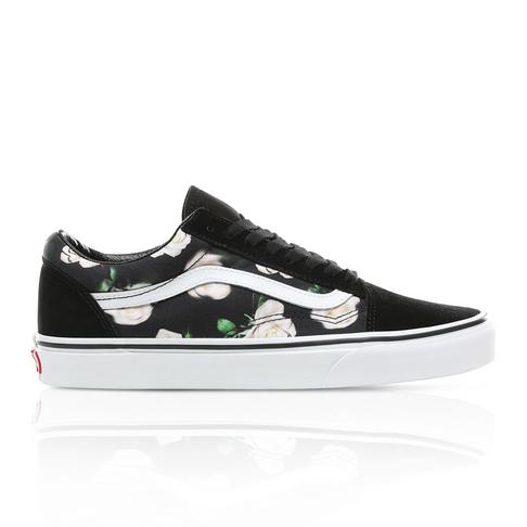 a43273666831 Vans Women s Romantic Floral Old Skool Black Sneaker