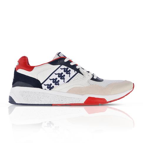 9081e1b6749 Kappa Men's Authentic Luxor 1 White/Red Sneaker