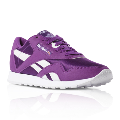 60f7c9f5182a9 Reebok Women s Classic Nylon Purple Sneaker