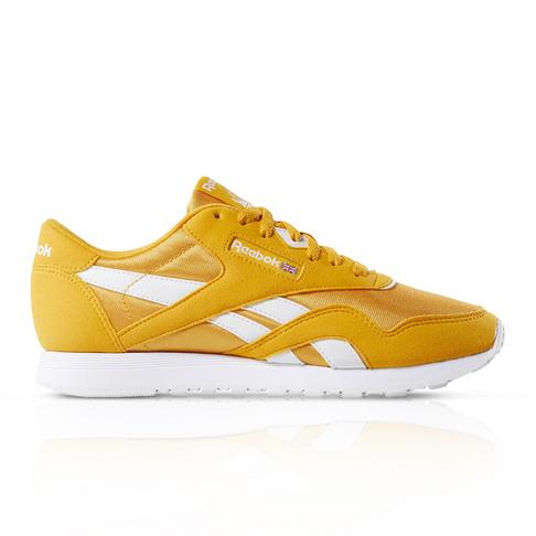 8ac6bcecb0 Reebok Men's Classic Nylon Yellow Sneaker