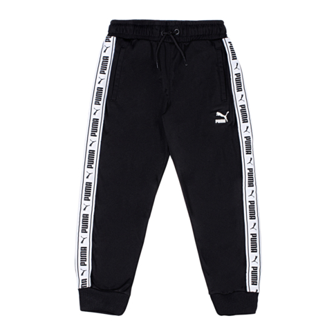 PUMA Kids Black/White Tape Track Pants