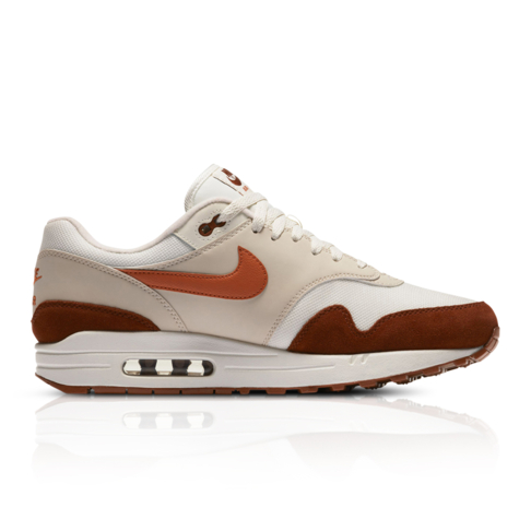 low priced 65e0f 526d1 Nike Men s Air Max 1 White Red Sneaker