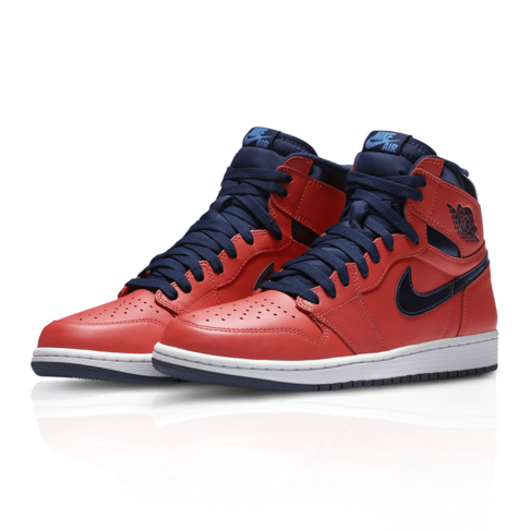 83e8f3fe3b5b Air Jordan Men s Retro 1 High OG Red Sneaker