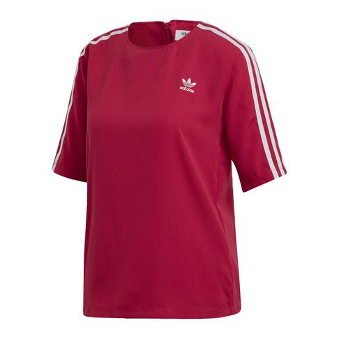 57ef1c6d adidas Originals Women's Pink 3 Stripes T-Shirt