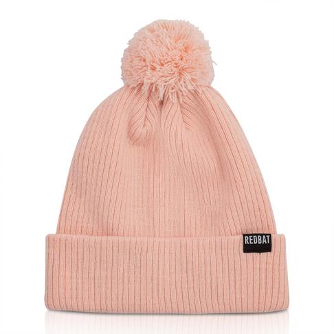 99eeca53d2cd Redbat Pink Ribbed Pompom Beanie