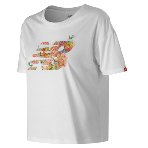 35741b40074e5 New Balance Women's Sweet Nectar White Essentials NB T-Shirt