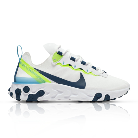 various colors usa cheap sale release date: Nike Women's React Element 55 White/Navy Sneaker