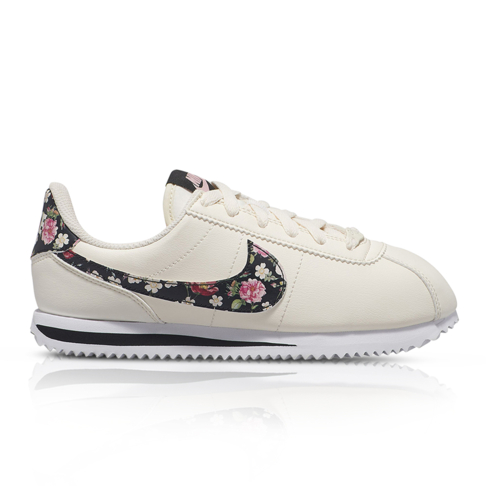 nice cheap famous brand classic shoes Nike Junior Cortez Basic Vintage Floral Cream Sneaker