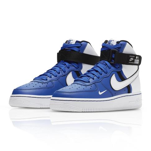 quality design 7e44b 321d2 Nike Junior Air Force 1 High LV8 2 Blue/White Sneaker