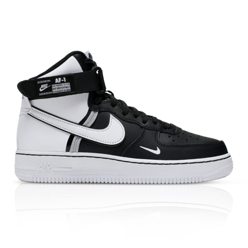 hot sale online 62e2f 94f6f Nike Junior Air Force 1 High LV8 2 Black/White Sneaker