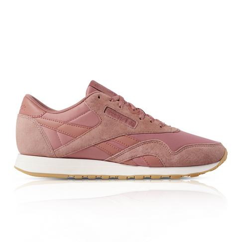 best service ba288 aab48 Reebok Women's Classic Nylon Pink Sneaker