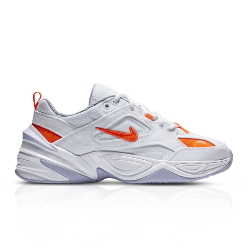 14455b8cbe Nike Women's M2K Tekno LX White/Orange Quickstrike Sneaker