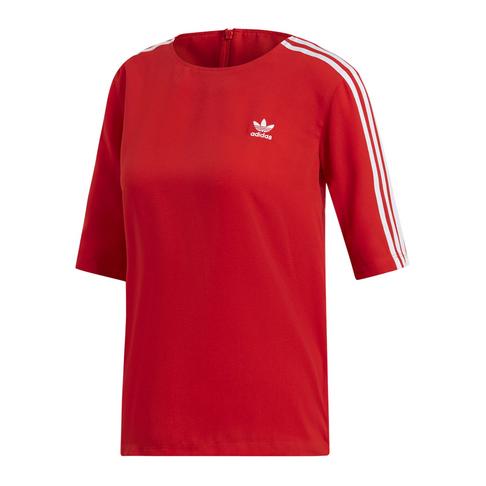 0eb4a26b adidas Originals Women's Red 3 Stripes T-Shirt