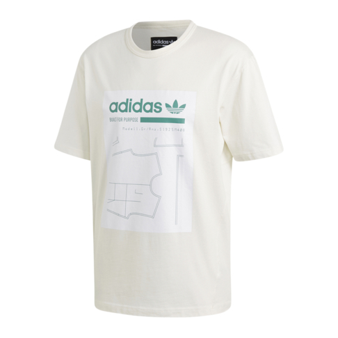 b49caeaa5 adidas Originals Men's White Kaval Graphic T-Shirt