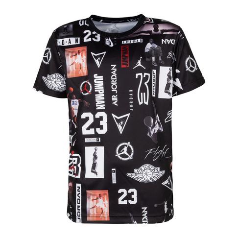07cd531bd598 Jordan Kids Stencil HBR Black T-Shirt