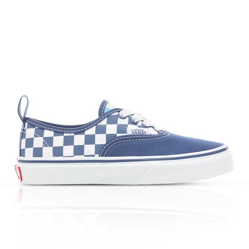 1239fb0830a Vans Kids Authentic Elastic Lace White/Navy Sneaker