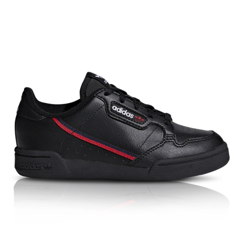 ac1613e9 adidas Originals Kids Continental 80 Black/Red Sneaker