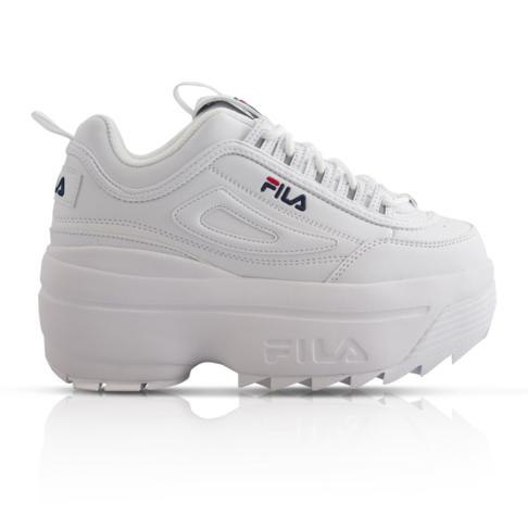 goedkope verkoop Britse winkel maat 7 Fila Women's Disruptor II Wedge White Sneaker