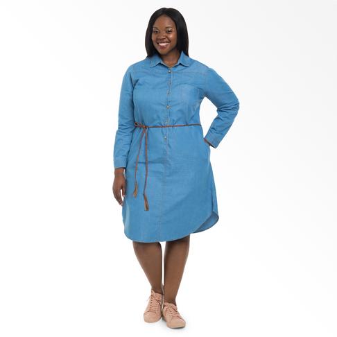 Plus Size | Denim Shirt Dress