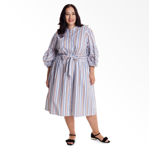 f87aba285892 Plus Size | Striped Maxi Shirt Dress