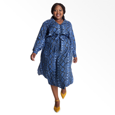 df5a820a8 Plus Size | Snake Print Shirt Dress