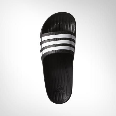 25758f321136 Men s adidas Duramo Black White Slide