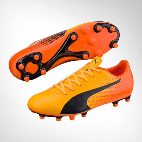 Men s Puma Evospeed Tricks 17.5 FG Yellow Orange Boot 515336be5