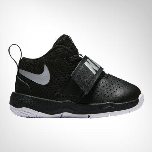 18ff37f4f478 Infants Nike Team Hustle D 8 Black White Shoe