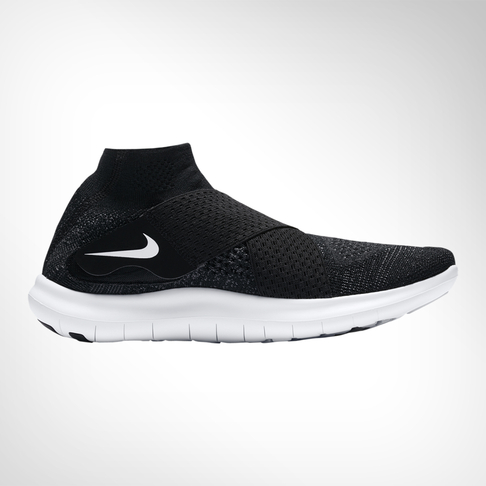 14566d06de59c Women s Nike Free RN Motion Flyknit 2 Black Grey Shoe