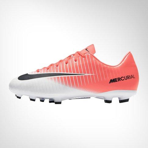 the latest e143a 21de1 Junior Nike Mercurial Victory XI FG White/Pink Boot
