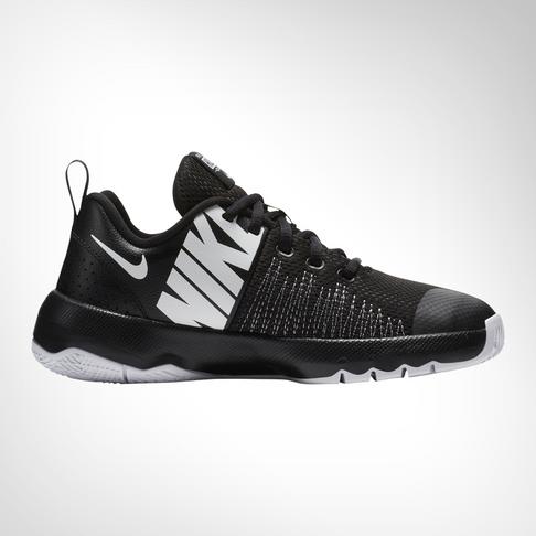 49067239594 Grade School Nike Team Hustle Quick Black White Shoe