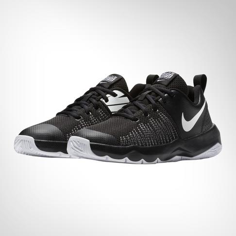 the best attitude ffe48 6e019 Grade School Nike Team Hustle Quick Black White Shoe