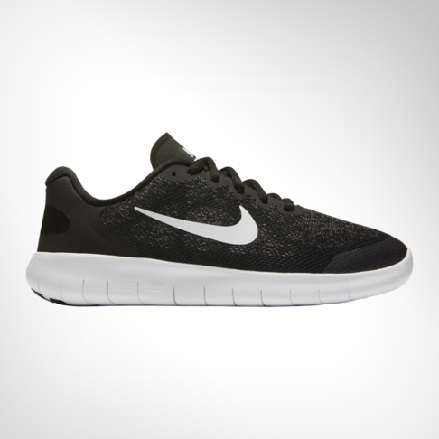 finest selection a6ea3 2662e Boy s Grade School Nike Free Run 2 Black White Shoe