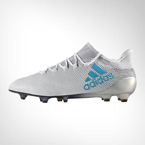 buy popular ea06a dd866 Men's adidas X 17.1 FG White/Blue Boot