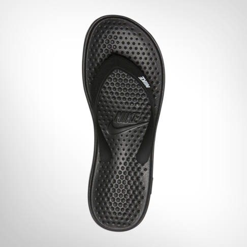 17712da06ee161 Grade School Nike Solay Black Thong Sandal