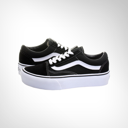 dff271659a5 Women s Vans Old Skool Platform Black White Shoe