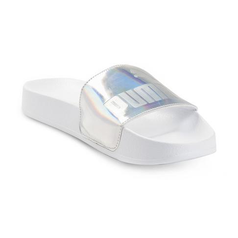 1e584e95d8 Women's Puma Leadcat Metallic Silver/White Sandal