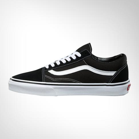 a103d18cb5 Junior Grade School Vans Old Skool Black White Shoe
