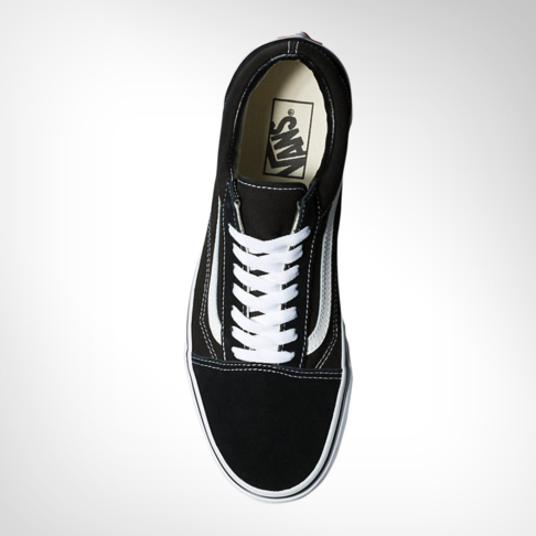 dda0b1d2806a Junior Grade School Vans Old Skool Black White Shoe