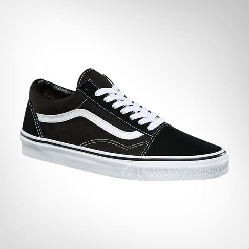 b7f47cf6 Junior Grade School Vans Old Skool Black/White Shoe