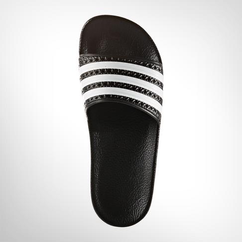 newest 18507 1268b Grade School adidas Adilette BlackWhite Slide