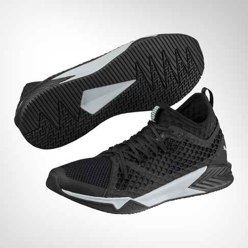 518ac14e8da Men s Puma Ignite XT Netfit Black Grey Shoe