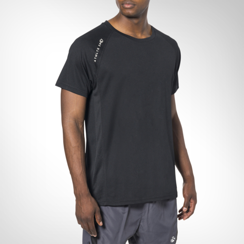 a69c7a826ca Men s Totalsports Basic Polyester Black Crew T-shirt