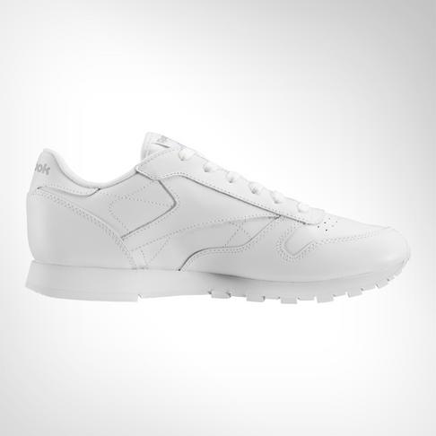 Junior Grade School Reebok Classic Leather White Shoe 91ee1d84c3d68