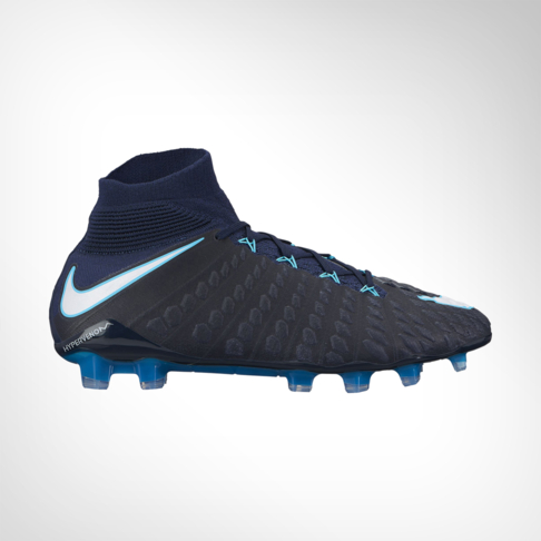b2370566c48 Nike Men s Hypervenom Phantom III DF Blue White FG Boot