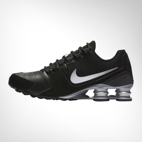 Nike Shox Mens Black Leather